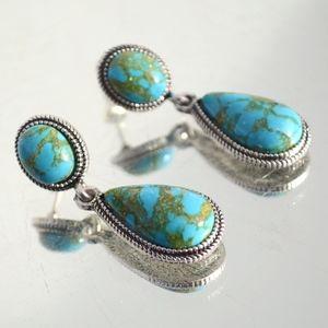 Jewelry - Turquoise Drop Dangle Earrings Southwestern
